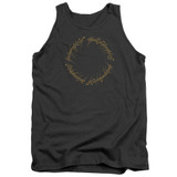 Lord Of The Rings One Ring Adult Tank Top T-Shirt Charcoal