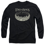 Lord Of The Rings The Journey Adult Long Sleeve T-Shirt Black