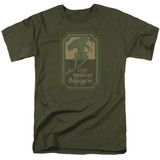 Lord Of The Rings Green Dragon Tavern Adult 18/1 T-Shirt Military Green
