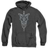 Lord Of The Rings Arwen Necklace Adult Heather Hoodie Sweatshirt Black