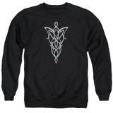Lord Of The Rings Arwen Necklace Adult Crewneck Sweatshirt Black