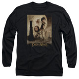 Lord Of The Rings TT Poster Adult Long Sleeve T-Shirt Black