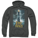Lord Of The Rings Always Watching Adult Pullover Hoodie Sweatshirt Charcoal