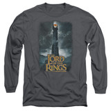 Lord Of The Rings Always Watching Adult Long Sleeve T-Shirt Charcoal