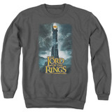 Lord Of The Rings Always Watching Adult Crewneck Sweatshirt Charcoal