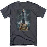 Lord Of The Rings Always Watching Adult 18/1 T-Shirt Charcoal