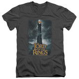 Lord Of The Rings Always Watching Adult V Neck Charcoal