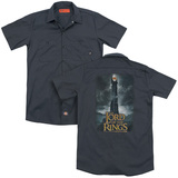 Lord Of The Rings Always Watching (Back Print) Adult Work Shirt Charcoal