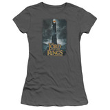 Lord Of The Rings Always Watching Junior Women's T-Shirt Charcoal