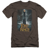 Lord Of The Rings Always Watching Premium Canvas Adult Slim Fit 30/1 T-Shirt Charcoal