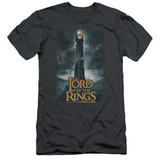 Lord Of The Rings Always Watching Adult 30/1 T-Shirt Charcoal