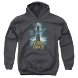 Lord Of The Rings Always Watching Youth Pullover Hoodie Sweatshirt Charcoal