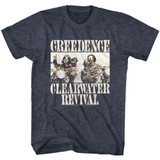 Creedence Clearwater Revival Bikes Photo Navy Heather Adult T-Shirt