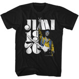 Jimi Hendrix Peace Jimi Black Adult T-Shirt