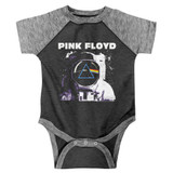 Pink Floyd Moon Vintage Smoke Granite Heather Baby Onesie T-Shirt