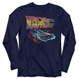 Back To The Future Future Navy Adult Long Sleeve T-Shirt