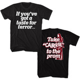 Carrie The Rage Take Carrie To Prom Black Adult T-Shirt