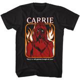 Carrie The Rage Hahaha Black Adult T-Shirt