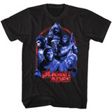 Planet Of The Apes Going Apes Black Adult T-Shirt