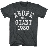 Andre The Giant ATG1980 Black Heather Adult T-Shirt