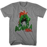 Street Fighter Blanka Graphite Heather Adult T-Shirt
