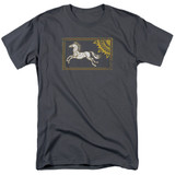 Lord of the Rings Rohan Banner Adult T-Shirt Charcoal