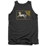 Lord of the Rings Rohan Banner Adult Tank Top T-Shirt Charcoal
