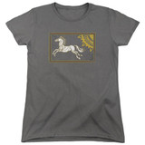 Lord of the Rings Rohan Banner Women's T-Shirt Charcoal