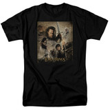 Lord of the Rings Rotk Poster Adult T-Shirt Black