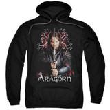 Lord of the Rings Aragorn Adult Pullover Hoodie Sweatshirt Black