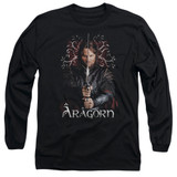 Lord of the Rings Aragorn Adult Long Sleeve T-Shirt Black