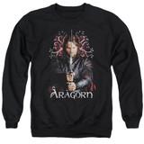 Lord of the Rings Aragorn Adult Crewneck Sweatshirt Black
