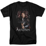 Lord of the Rings Aragorn Adult T-Shirt Black