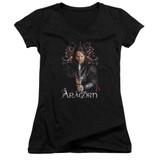 Lord of the Rings Aragorn Junior Women's V-Neck T-Shirt Black