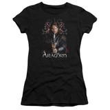 Lord of the Rings Aragorn Premium Bella Junior Women's T-Shirt Jersey Black