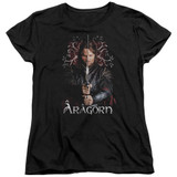 Lord of the Rings Aragorn Women's T-Shirt Black