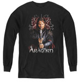 Lord of the Rings Aragorn Youth Long Sleeve T-Shirt Black