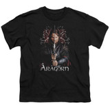 Lord of the Rings Aragorn Youth T-Shirt Black