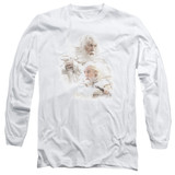 Lord of the Rings Gandalf The White Adult Long Sleeve T-Shirt White