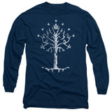 Lord of the Rings Tree Of Gondor Adult Long Sleeve T-Shirt Navy