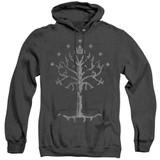 Lord of the Rings Tree Of Gondor Adult Heather Hoodie Sweatshirt Black