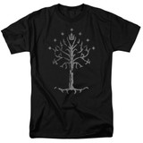 Lord of the Rings Tree Of Gondor Adult T-Shirt Black