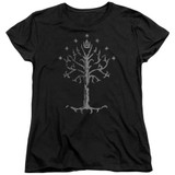 Lord of the Rings Tree Of Gondor Women's T-Shirt Black