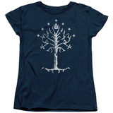 Lord of the Rings Tree Of Gondor Women's T-Shirt Navy
