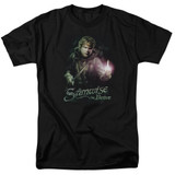 Lord of the Rings Samwise The Brave Adult T-Shirt Black