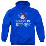 Steven Universe Believe Adult Pullover Hoodie Sweatshirt Royal Blue