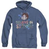 Steven Universe Believe Adult Heather Hoodie Sweatshirt Royal Blue