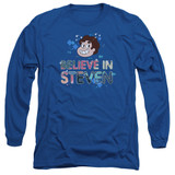 Steven Universe Believe Adult Long Sleeve T-Shirt Royal Blue