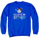 Steven Universe Believe Adult Crewneck Sweatshirt Royal Blue