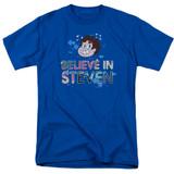 Steven Universe Believe Adult T-Shirt Royal Blue